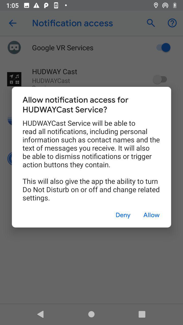 HUDWAY Cast APK-version connection – HUDWAY Help Center