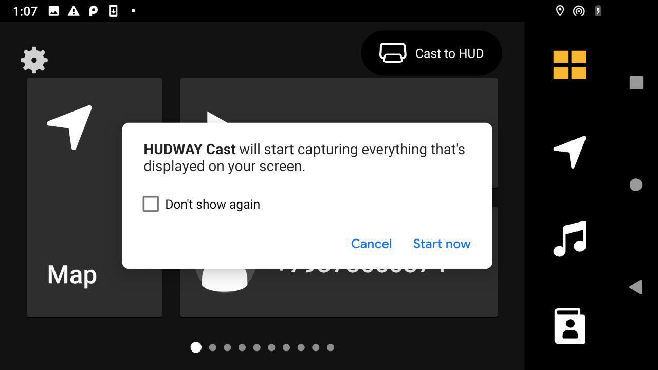 HUDWAY Cast APK-version connection – HUDWAY Help Center